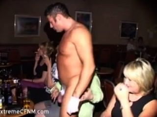 Wild Party Girls Sucking A Male Strippers Cock