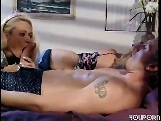 Mom Sleeps And Boyfriend Play With His Daughter
