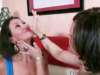 Persia And A Friend Swallow Sperm
