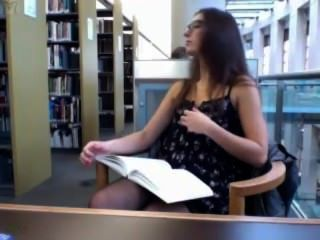Camgirl In Library