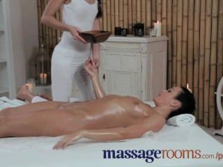 Massage Rooms Petite Teen Lesbians Have Oily And Sensual Fuck