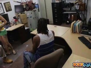 Ebony Cuckold In Pawnshop