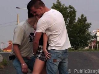 Public Street Sex Of A Little Girl And A Big Guy Part1